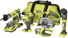 Ryobi ONE+18-V Lithium-Ion Ultimate Combo Kit 6-Tools Saw Drill Driver Worklight