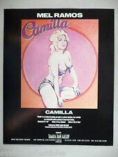 Mel Ramos Art Gallery Exhibit PRINT AD - 1990 ~~ Camilla