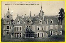 cpa Rare 89 - AVALLON (Yonne) CHÂTEAU des GRANGES Verrière Edicule New Art