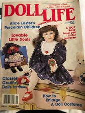 Vintage Doll Magazine Rare 'Doll Life' 6/1992 Japanese Dolls Also Many Patterns