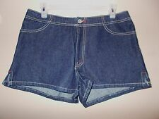 NWOT Blue Asphalt Juniors Size 11 Blue Jean Denim Mini Shorts 100% Cotton
