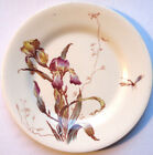 RARE Assiette à dessert Art Nouveau Terre de Fer GIEN, modèle Iris, polychrome