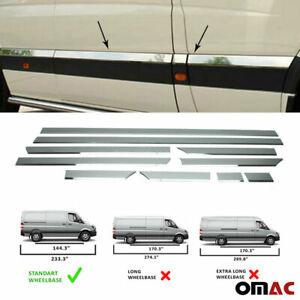 """Fits Dodge MB Sprinter 2007-2018 Chrome Side Door Trim Streamer Standard (144"""")"""
