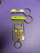 New listing Rare Vintage Lot Miller Lite Rock A' Rama Guitar Beer Bottle Openers Keychains