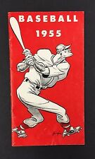 1955 Professional baseball Guide Schedules Awards Statistic Vintage old Sports