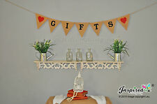 Aloha Hessian Fabric Bunting Banner Rustic Shabby Chic Wedding Heart