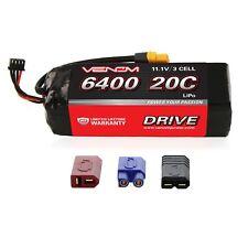 Venom LiPo Battery : Traxxas Slash 1:10 20C 11.1V 6400mAh 3S with UNI Plug
