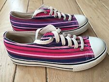 ESPRIT New Women's Multi-Color Striped Canvas Sneakers Yacht Boat Shoes Size 7