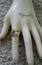 10K Yellow & White Gold Two-Tone Ring 6.9 Grams size 7.  Almost at SCRAP price