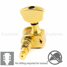 NEW Sperzel EZ-MOUNT LOCKING TUNERS L3+R3 Trim-Lock Keys 3x3 - GOLD PLATED