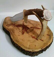 SCHRADE WHITE TAIL DEER ANTLER  PRO HUNTER KNIFE! SHEATH! FREE SHIPPING!
