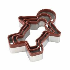 Tala Stainless Steel Nesting Gingerbread Man Cookie Cutters - Set of 3