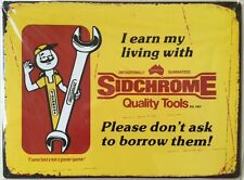 Tin Sign  Metal ``SIDCHROME``