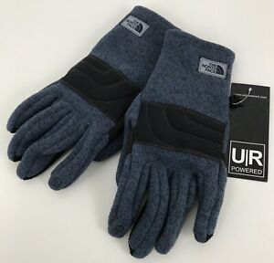 NWT The North Face Mens Small Fleece Gloves UR Powered Blue