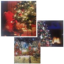 Christmas 40cm LED Light up Canvas Picture - Choose Design