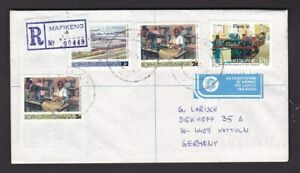 Bophuthatswana 1981 MAFEKENG registered cover to Germany