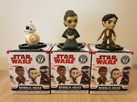 Funko Star Wars Mystery Minis Last Jedi Bobbleheads BB8,Leia,Poe Dameron
