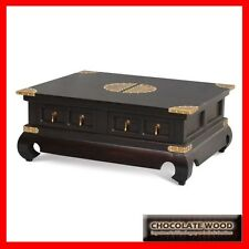 NEW BEIJING SOLID MAHOGANY Coffee Side Table Timber WOODEN 4 drawers 1.0M x 0.8