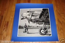 DELTA AIR LINES DC 3 ON TARMAC WITH AGENT LARGE LAMINATED SEALED POSTER 29 X 33
