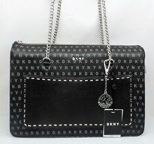 DKNY Bryant Unterschrift Logo Top Reißverschluss Einkaufstasche braun R74a4009