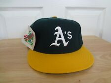 Vintage Oakland Athletics Fitted Hat 90s New Era Pro Model Size 7 1/8 NWT MLB