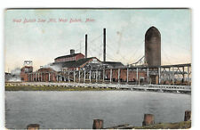 West Duluth-Minnesota-Saw Mill-Antique Postcard
