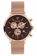 Gigandet Classico Herrenuhr Chronograph Datum Edelstahl Rotgold Braun G6-015