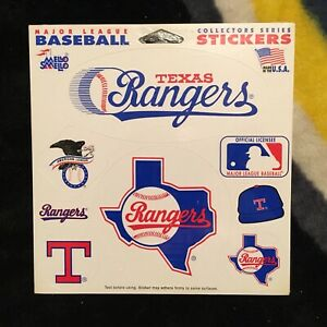 Texas Rangers. Mello Smello Sticker set. New in shrink.
