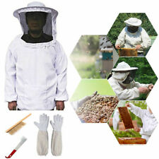 Beekeeping Suit Kit Heavy Duty Jacket Veil Gloves Bee Hive Brush Hook Tool Set