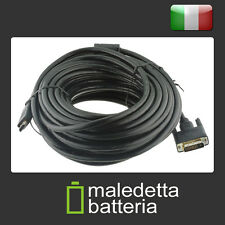 Cavo video [ HDMI A maschio > DVI D 24+1 maschio ] 15 mt. DUAL LINK -nero HDTV