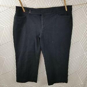 Chaps Plus Size 20W Black Capri Pants business stretch Ralph Lauren