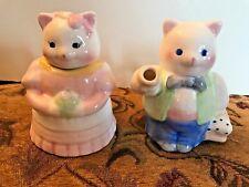 Applause Inc. Girl & Boy Cream & Sugar Made in Thailand #39049