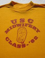 vintage USC midwifery class '82 size SMALL T-SHIRT vtg university california