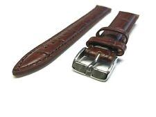 Uhrenarmband Lederband 18mm XL Braun Kalbsleder Kroko Watch Leather Strap POLJOT