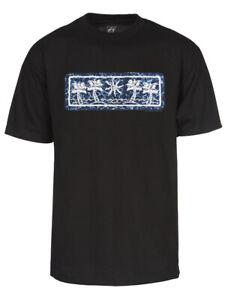Mens Palm Tree Ocean Wave Short-Sleeve T-Shirt