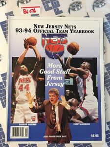 New Jersey Nets 93-94 Official Team Yearbook Derrick Coleman Kenny Anderson 8607