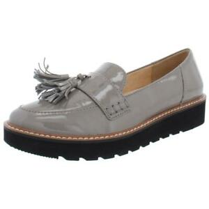 Naturalizer Womens August Gray Solid Loafers Shoes 8.5 Wide (C,D,W) BHFO 3234