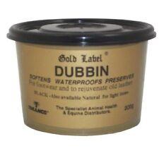 Waterproof Gold Label Dubbin Leather Black 200g