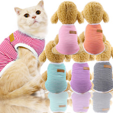 Pet Cat Dog Jumpsuit Warm Winter Sweater Coat Vest Puppy Jacket Clothes Apparel