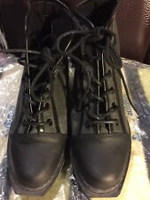 Opening Ceremony Women Charcoal Canvas Ankle Boots,Size 5,Superb Condition