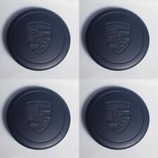 New 4Pcs Fuchs Wheel Center Caps Porsche Black metal Fast Shipping 91136103228