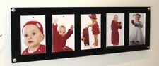 "Multi picture photo frame 5 x 7 ""/7 x 5 "" Cheshire Acrylic magnetic baby wedding"