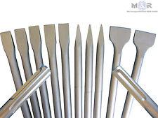 SDS-Max Meißel Flachmeißel Spitzmeißel Spatmeißel 10 Stück als Set - Sparangebot