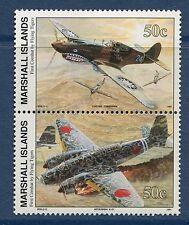 Marshall Islands 1991 World War 2 WW II Scott 294-5 Flying Tigers Combat W29 NH
