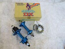 SHIMANO MX DX BLUE HUBS 36 HOLE  BMX  RACE RACING SCHWINN  BICYCLE VINTAGE