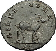 GALLIENUS Valerian I son 267AD Authentic Ancient  Roman Coin Antelope i65648