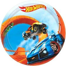 Hot Wheels Dessert/Appetizer Plates-Package of 8. NEW- 7in Round