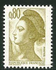 1982 Variété Marianne Gandon 2241a Phos. à gauche 3,50€ ★★ neuf sans charnière