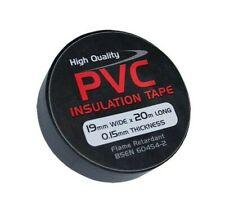 More details for black insulation tape. pvc. flame retardant. 5 metre -> 33 metre lengths..