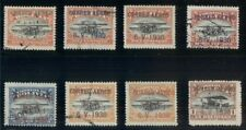 BOLIVIA #C11-18, Complete Zeppelin set, mint & used, C13 is signed Bloch
